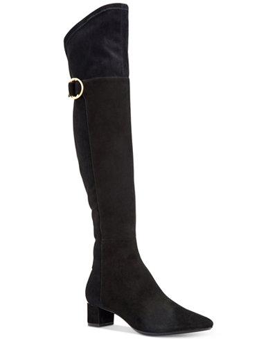 Calvin Klein Women's Georgeanna Stretch Over-The-Knee Boots