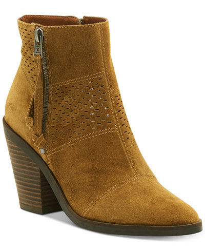 Lucky Brand Ramses Bootie(Women's) -Java Suede Free Shipping Official gvpRt