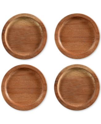 Coasters, Set of 4 Kona Wood