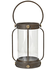 Madison Park Hawthrone Iron/Glass Lantern, Medium