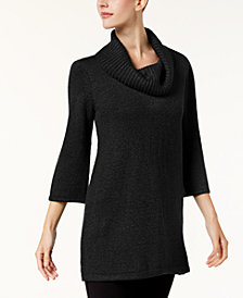 Karen Scott Cowl-Neck 3/4-Sleeve Sweater, Created for Macy's
