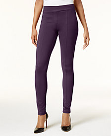Style & Co Petite Ponté-Knit Seam-Front Leggings, Created for Macy's