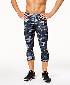 ID Ideology Men's Cropped Camo Tights, Created for Macy's
