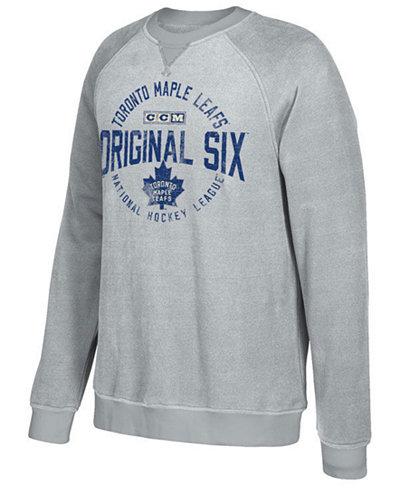 CCM Men's Toronto Maple Leafs Original 6 Classic Crew Sweatshirt