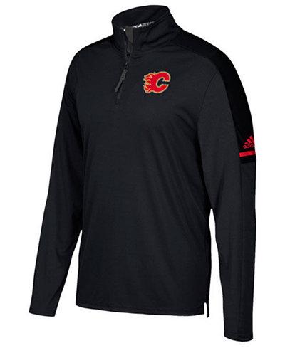 adidas Men's Calgary Flames Authentic Pro Quarter-Zip Pullover