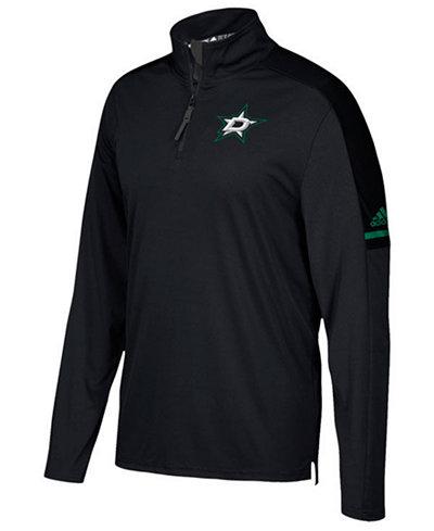 adidas Men's Dallas Stars Authentic Pro Quarter-Zip Pullover