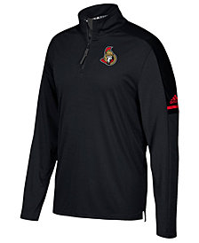 adidas Men's Ottawa Senators Authentic Pro Quarter-Zip Pullover
