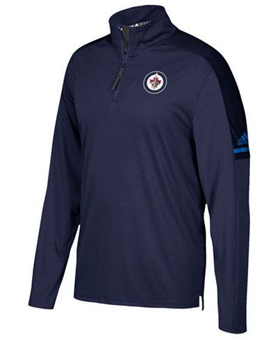 adidas Men's Winnipeg Jets Authentic Pro Quarter-Zip Pullover