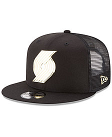 New Era Portland Trail Blazers Metal Mesh 9FIFTY Snapback Cap