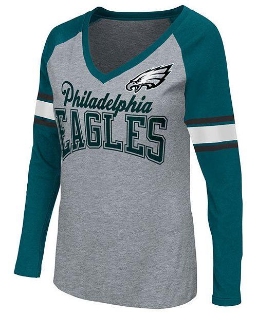 G-III Sports Women's Philadelphia Eagles In the Zone Long Sleeve T-Shirt