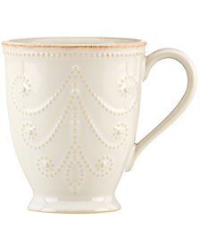 Lenox Dinnerware, French Perle  white Mug