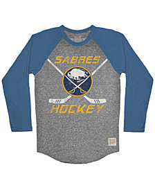 Retro Brand Men's Buffalo Sabres Reggie Raglan Long Sleeve T-Shirt