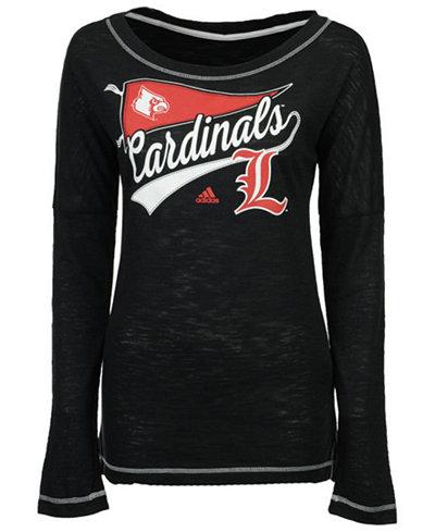 adidas Women's Louisville Cardinals Pennant Pride Long Sleeve T-Shirt