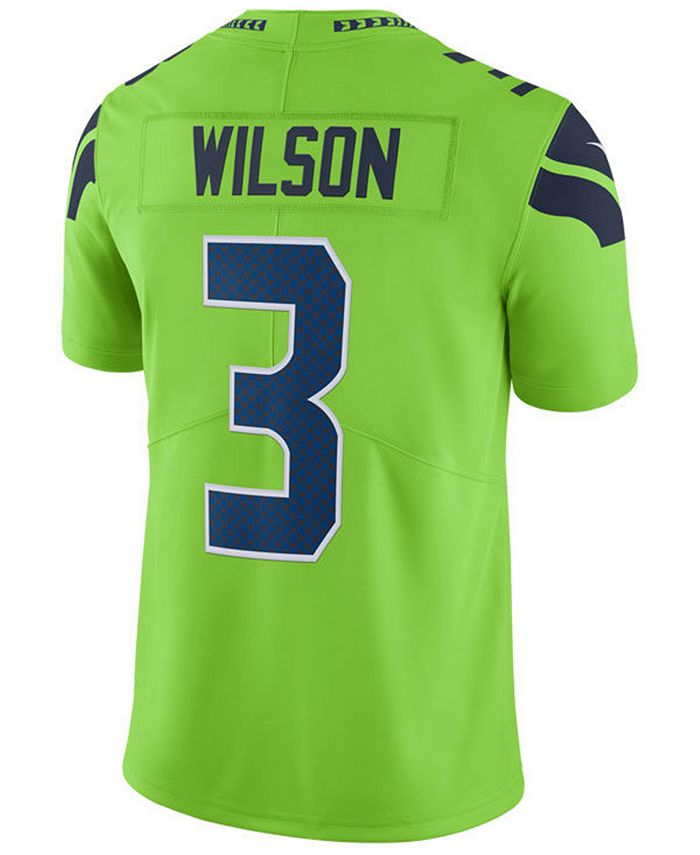 Nike Men's Russell Wilson Seattle Seahawks Limited Color Rush ...