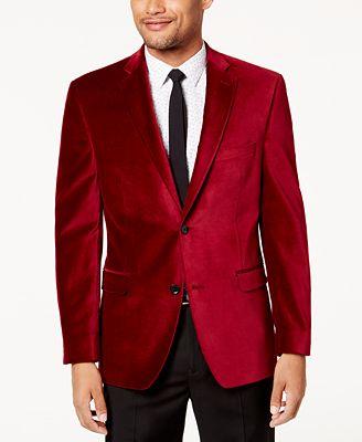 Alfani Men's Velvet Slim-Fit Sport Coat, Created for Macy's ...