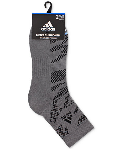 adidas Men's 2-Pk. Climalite® High Quarter Socks