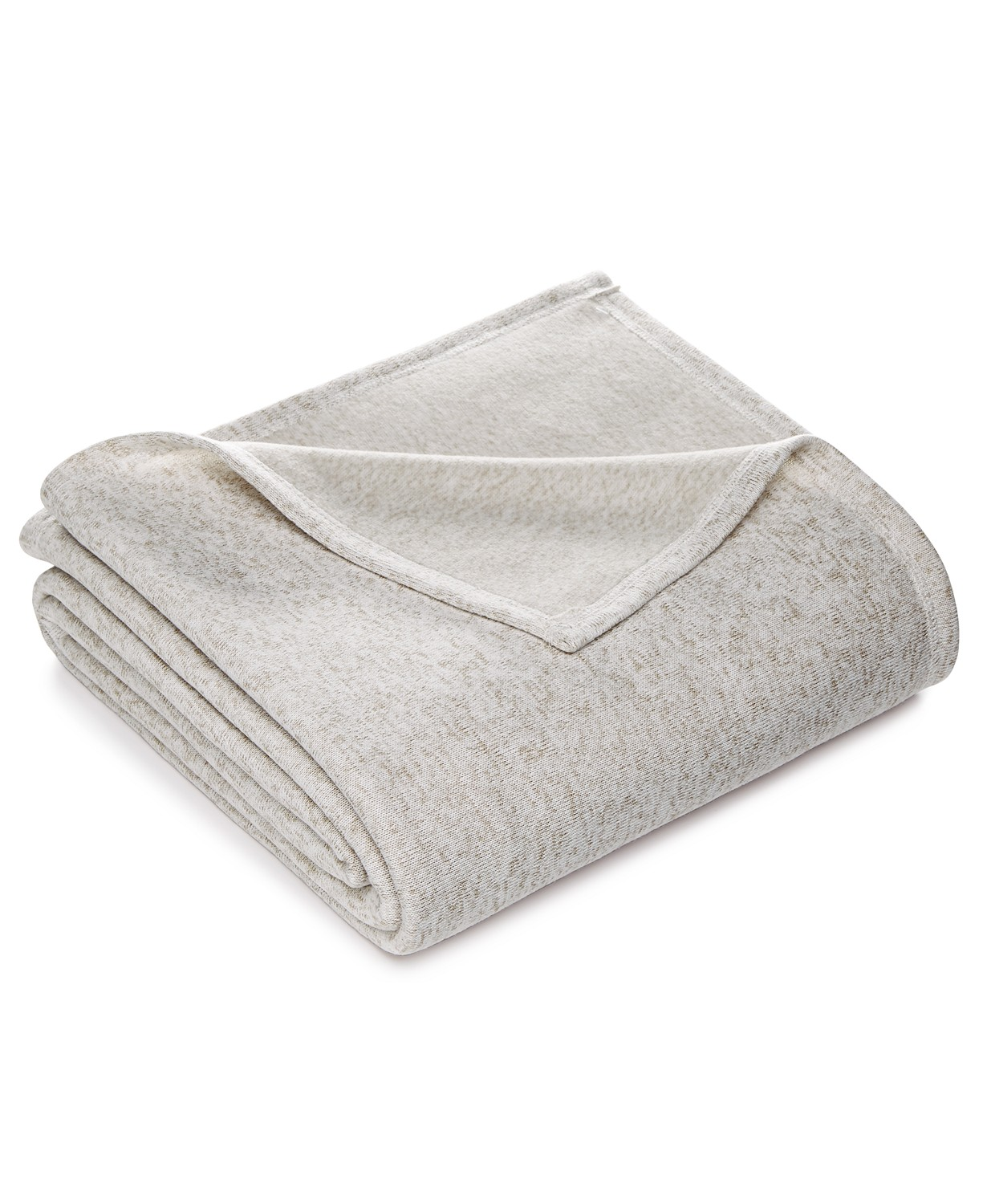 Martha Stewart Collection Heathered Sweater Fleece Twin Blanket (Multi Color)