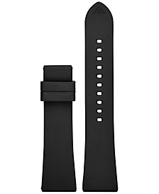 Emporio Armani Connected Black Rubber Smart Watch Strap