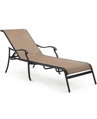 Vintage cast aluminum outdoor chaise lounge furniture for Aluminum chaise lounge outdoor