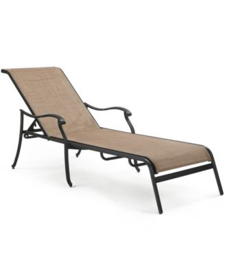 Vintage Cast Aluminum Outdoor Chaise Lounge