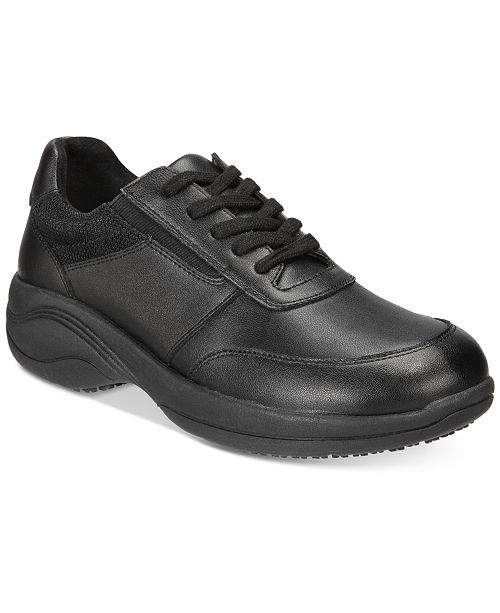 445e0943977 ... Easy Street Easy Works By Women s Middy Lace-Up Slip Resistant Sneakers  ...