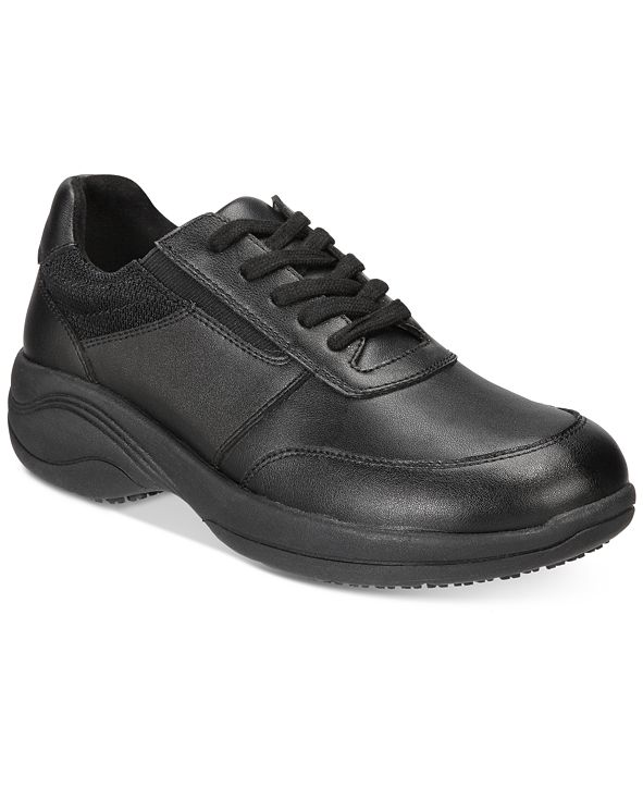 Easy Street Easy Works By Women's Middy Lace-Up Slip Resistant Sneakers