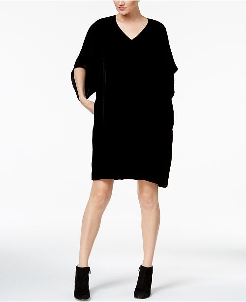 5cb536dd835 Eileen Fisher Velvet V-Neck Kimono Dress   Reviews - Dresses ...