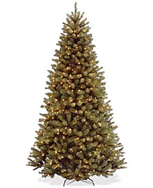 7.5' North Valley Spruce Hinged Tree With 550 Clear Lights