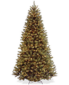 National Tree Company 7.5' North Valley Spruce Hinged Tree With 550 Clear Lights