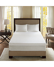 "Flexapedic by Sleep Philosophy 3M Moisture-Management 4"" Memory Foam Mattress Topper Collection"