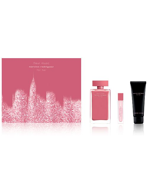 Narciso Rodriguez 3 Pc For Her Fleur Musc Gift Set All Perfume