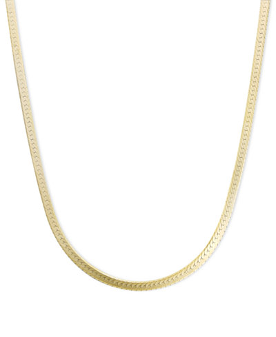 14k Gold Necklace, 18