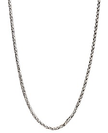 "14k White Gold Necklace, 20"" Diamond Cut Wheat Chain (9/10mm)"