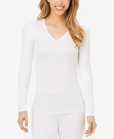 Cuddl Duds Softwear Long Sleeve V-Neck Top