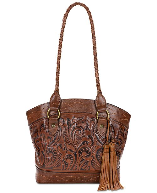 591f279ae8d7 Patricia Nash Zorita Burnished Tooled Leather Shoulder Bag   Reviews ...