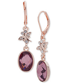 lonna & lilly Rose Gold-Tone Stone & Crystal Drop Earrings