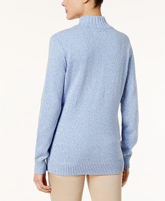 Karen Scott Cotton Zip Up Sweater Created For Macys Sweaters