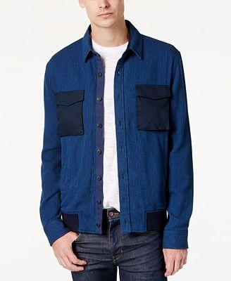 American Rag Men's Denim Shirt Jacket, Created for Macy's - Coats ...