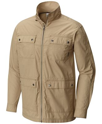 Mens Rugged Safari Travel Jacket Bush Poplin Safari Jacket
