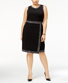 MICHAEL Michael Kors Plus Size Faux-Wrap Dress