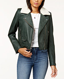 Levi's® Cropped Sherpa Collar Moto Jacket