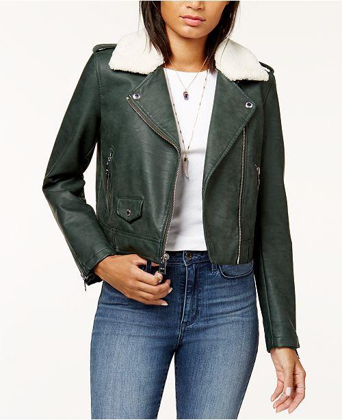 96152b2a3fb Levi s Cropped Sherpa Collar Moto Jacket   Reviews - Jackets ...