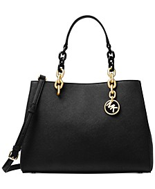 Cynthia Saffiano Leather Satchel