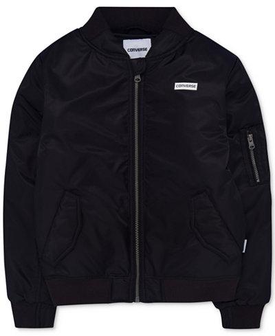 Converse Full-Zip Bomber Jacket, Big Boys
