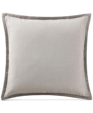 Waterford Charlize Reversible Herringbone-Stripe Gray European Sham Bedding 5044511