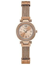 Women's Rose Gold-Tone Stainless Steel Bracelet Watch 27mm
