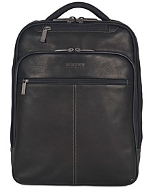 "16"" EZ-Scan Colombian Leather Computer Backpack"