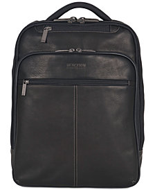 Kenneth Cole Reaction 16 Ez Scan Colombian Leather Computer Backpack