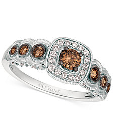 Le Vian Chocolatier® Diamond Halo Ring (5/8 ct. t.w.) in 14k White Gold
