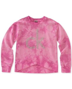 Calvin Klein Studded TieDye Logo Sweatshirt Big Girls (716)